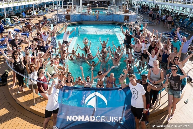 digital nomad cruise - group photo