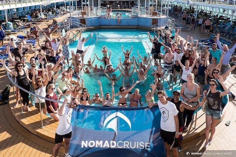 digital nomad cruise - group photo