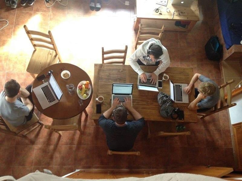 sunny office for digital nomads
