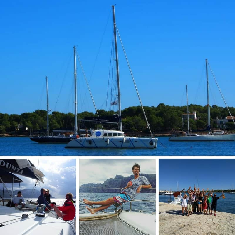 coworking sailing trip with digital nomads